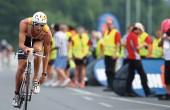triathlete racing